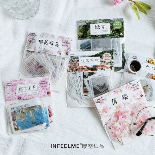 Infeel.Me Cherry Blossom Letterhead Sticker