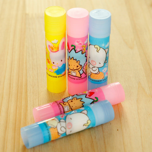 Kawaii  Japanese  Korean Cartoon pattern, strong solid glue stick, environmental protection, non-toxic  strong adhesion