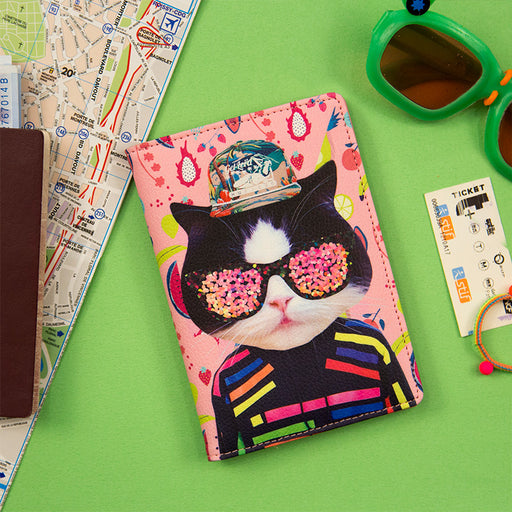 Local tyrant meeting passport holder funny animal candy colored leather passport holder
