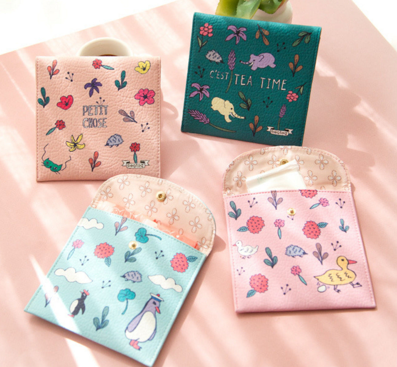 Colorful world tampon pack cartoon animal tampon pack pack tampon bag