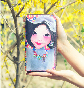 Luxury queen long style purse Original vintage fashion girl wallet