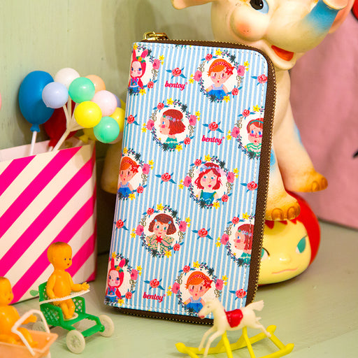 Original Anna west long - style wallet cartoon hand - painted wallet creative cute wallet