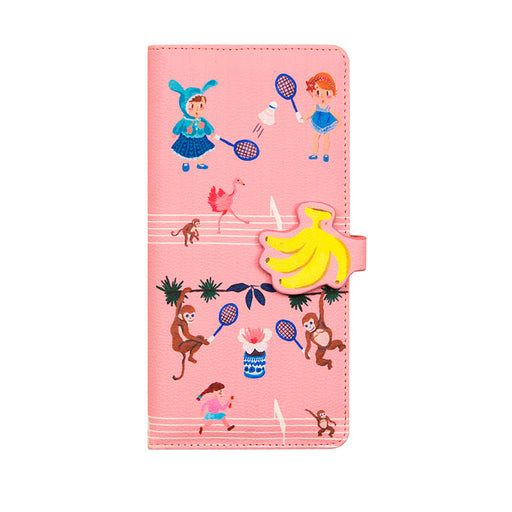 Anasi passport folder cute girl candy colored leather certificate folder