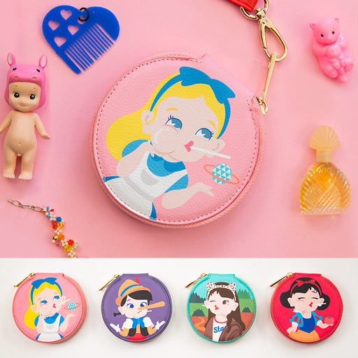 Bangbang small round package cute girl biscuit package small fresh cartoon Korean wallet