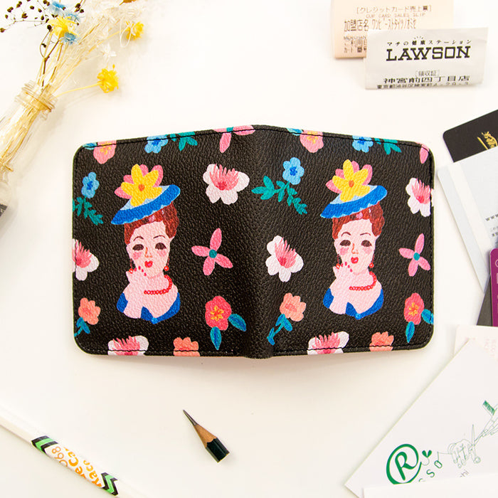 Original anasi pocket wallet cartoon hand-painted wallet creative cute wallet