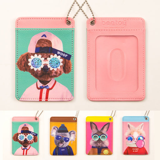 Local tyrant meeting 2 generation card clip cute animal card clip personality card pack bus card set