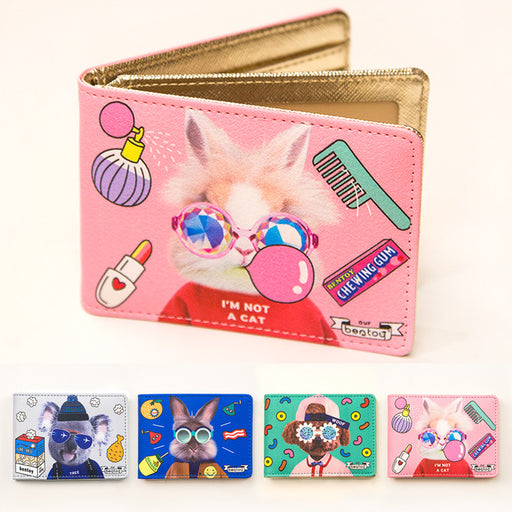 Local tyrant meeting double deck driving license holder personality fashion driving license holder cute animal card bag