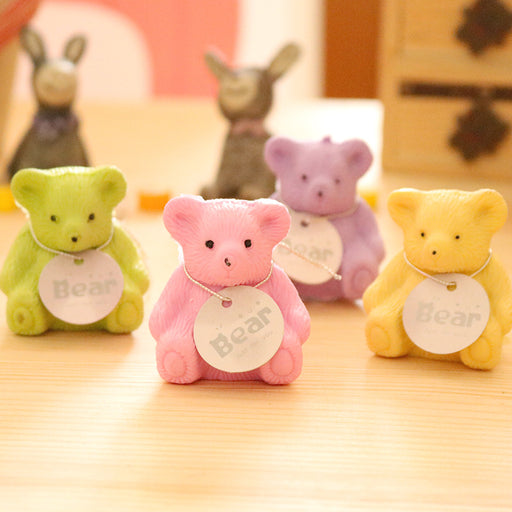 Kawaii  Japanese  Korean  Schoolbag bear eraser with pencil sharpener student eraser