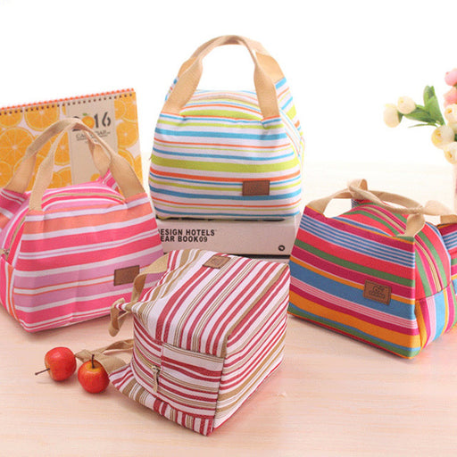 Lovely Japanese and Korean cold insulation. Picnic bag, lunch box with zipper