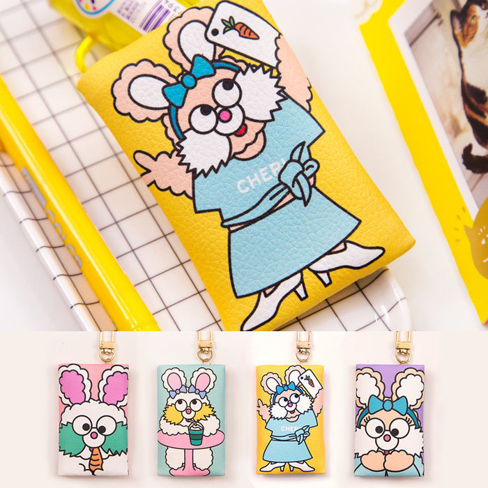 Fez rabbit pendant zero wallet cute cartoon key chain rabbit zero wallet pendant