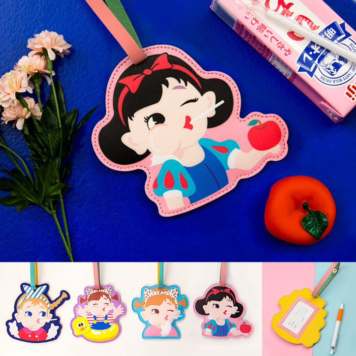 Bang bang cute luggage tag cartoon girl luggage backpack decoration travel luggage tag