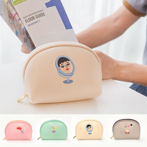 Strange aunt embroidery makeup bag art fresh collection bag embroidery creative hand bag
