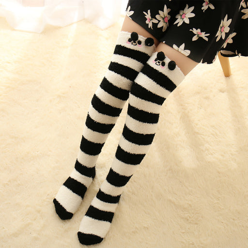 Bunny Striped Kawaii Tumblr Lolita Cutie Over Knee Thigh High Long Socks