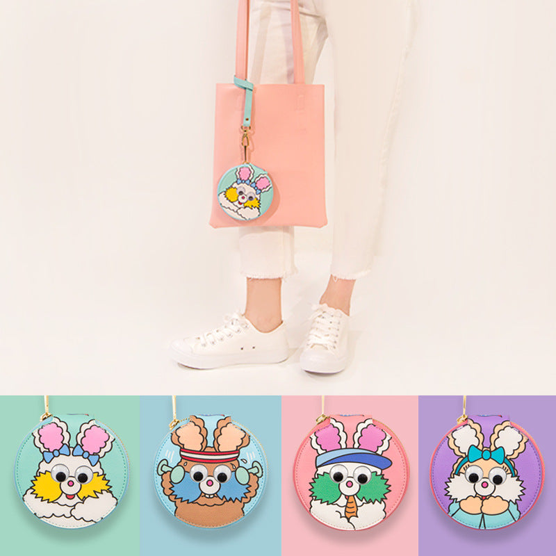 Faith rabbit round package cute bunny biscuit package fresh soft younger sister Korean wallet