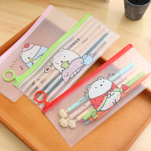 Kawaii Japanese Koreanins cute cartoon pencil case/ bunny file bag/ sealing PVC bag