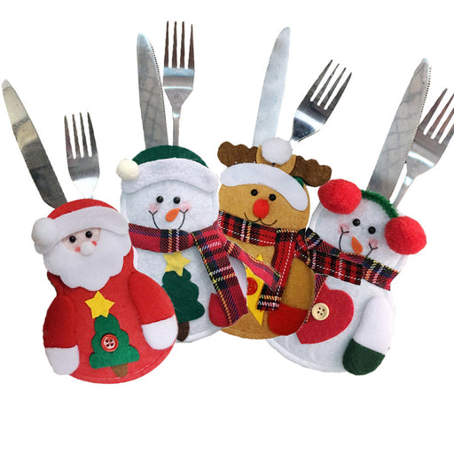 Kawaii  Japanese  Korean Christmas snowman knife and fork set