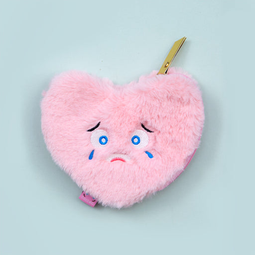 Kawaii Korean Japanese Bentoy Expression Plush Coin Cute Cartoon Zipper Girl Wallet