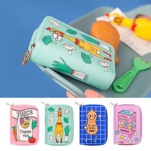 Convenience store double-decker zero wallet cartoon cute multi-card bag multi-function wallet