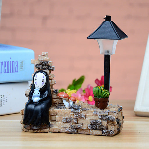 Kawaii  Japanese  Korean -Hayao Miyazaki and Chihiro street light night light birthday gift, no face send girlfriend gift no face light