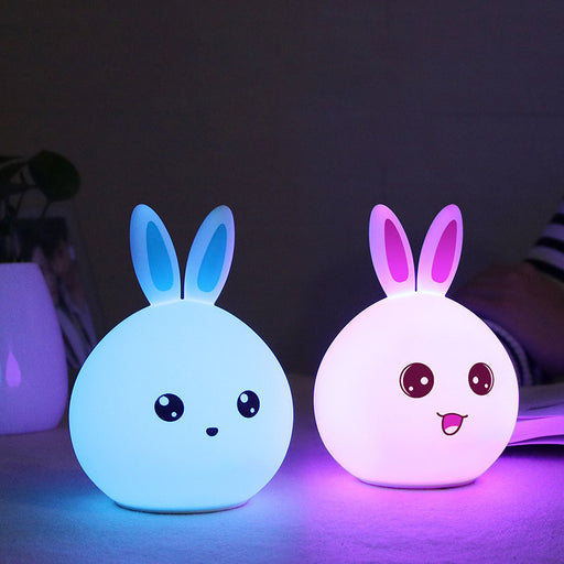 Cute Colorful Cute Rabbit Silicone Lamp (Rechargeable)