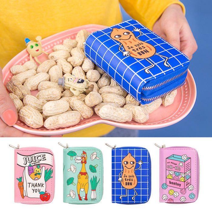 Kawaii Korean Japanese Bentoy Convenience Store Double Coin Cartoon Cute Multi-Card Holder Multi-Functional Wallet