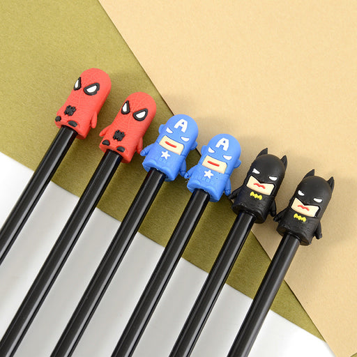 Kawaii Japanese Korean  Captain America Batman Spiderman Model Gel Pen Superhero Gel Pen