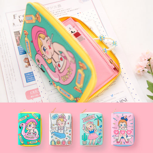 New bangbang short wallet cute cartoon lady purse original student purse