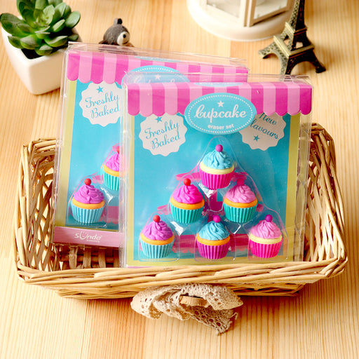 Kawaii  Japanese  Korean  Cake Dessert Cup Eraser Set