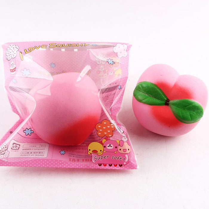 Silly Squishy - Kawaii Korean Japanese Slow Rebound Large Charm Peach Squishy