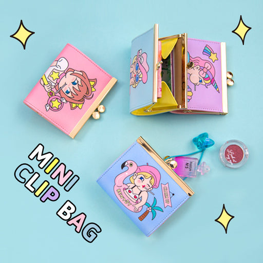 Bang bang metal clip clip zero purse cute cartoon lady purse harajuku student purse