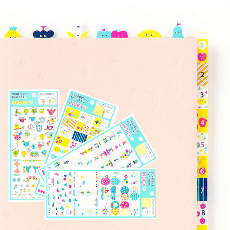 Fresh watercolor seal Japan diy decoration post PVC transparent manual sticker