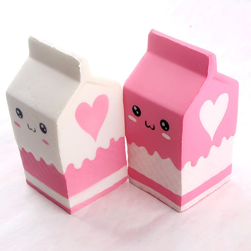 Silly Squishy - Kawaii Korean Japanese Slow Rebound Cross-Decompressed milk carton
