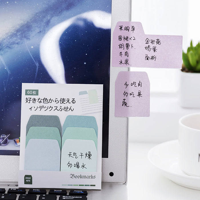 Kawaii Korean Japanese Stationery Gradient Color Classification Memo Sticky Note