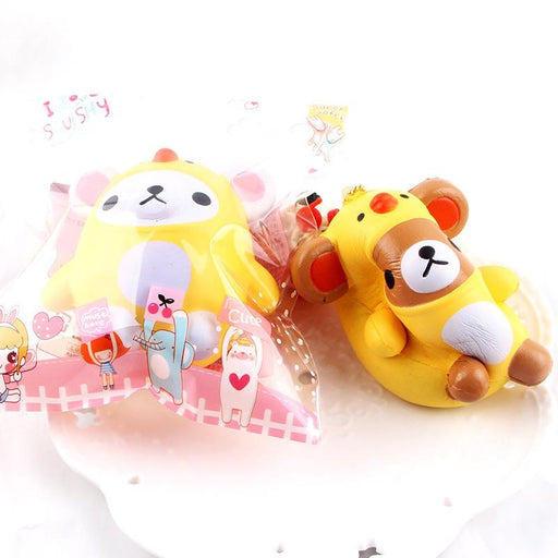Silly Squishy - Slow bounce toy PU imitation bear chicken Squishy