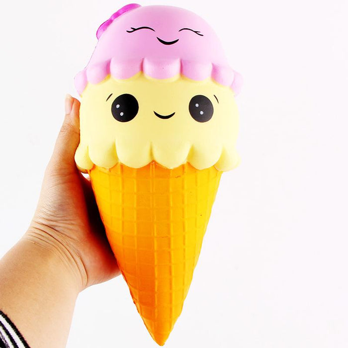 Silly Squishy - Pu simulation double big ice cream cream Squishy