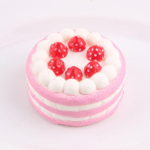 Silly Squishy - Kawaii Korean Japanese Small Strawberry Cake Pendant Squishy