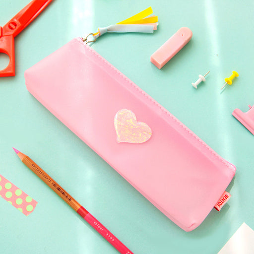 Colorful PVC pencil bag literature fresh jelly transparent pencil bag portable student pencil bag