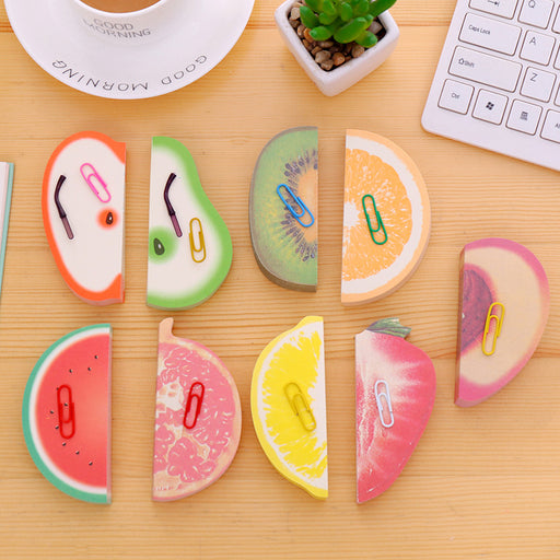 Kawaii  Japanese  Korean  Red apple sticky note fruit sticky note cute stickers