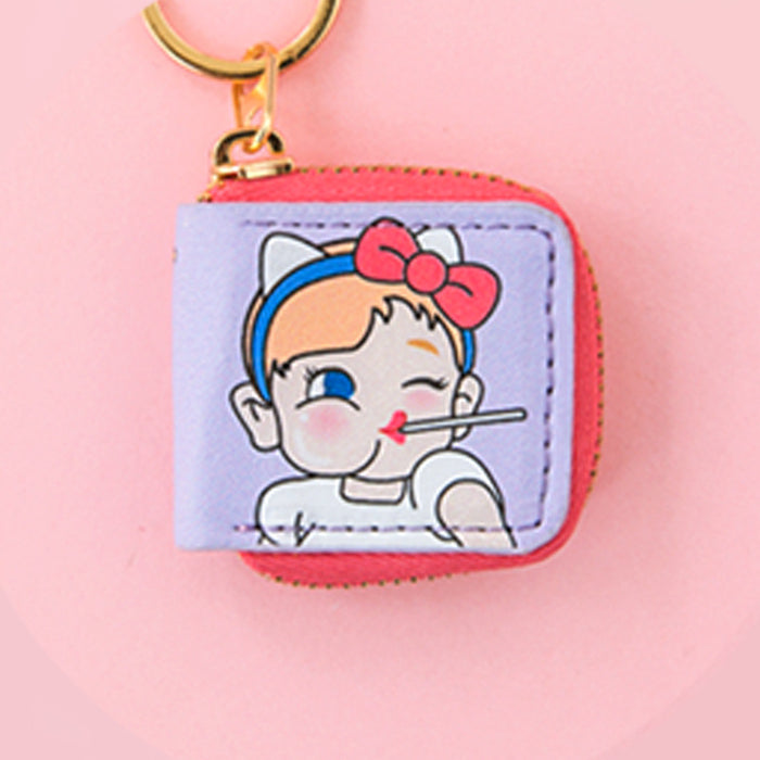 Bangbang pocket key pendant wallet modelling key chain lovely girl adorns pendant