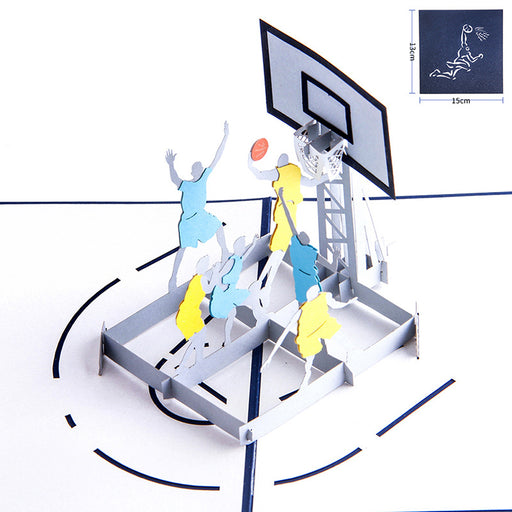 Kawaii Japanese Korean birthday gift three-dimensional greeting card 3D three-dimensional basketball slam dunk