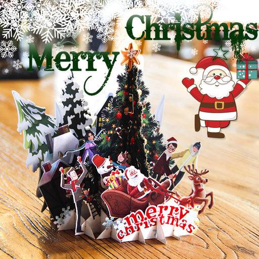 Kawaii Japanese Korean Christmas party three-dimensional greeting card decoration paper sculpture small card