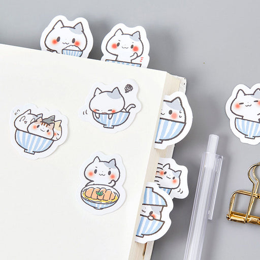 poetry boxed stickers a bowl of cat stickers stickers hand account album items decorative