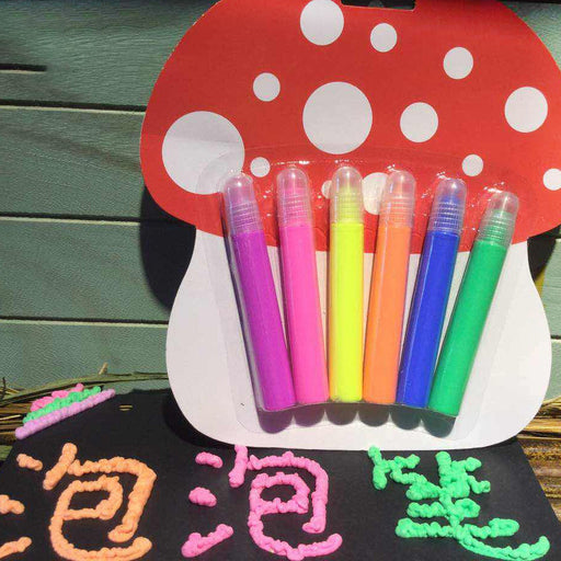 Kawaii  Japanese  Korean  Three-dimensional 6-color DIY color handmade bubble jelly fluorescent crystal luminous ceramic textile pen