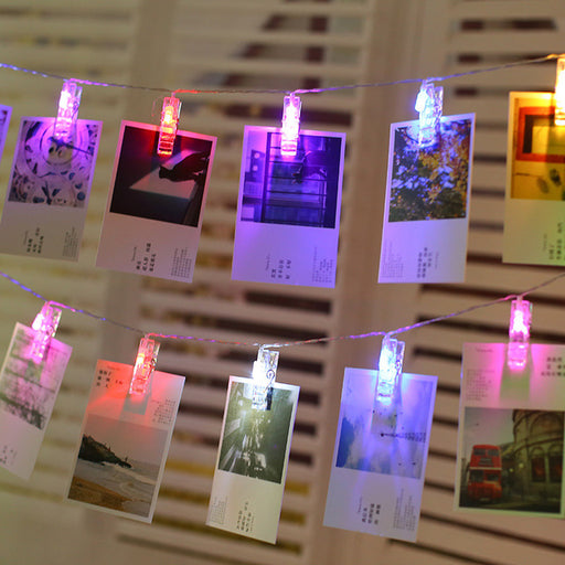 Kawaii Japanese Korean led photo photo wall clip light string/room decoration clip light/star clip string light