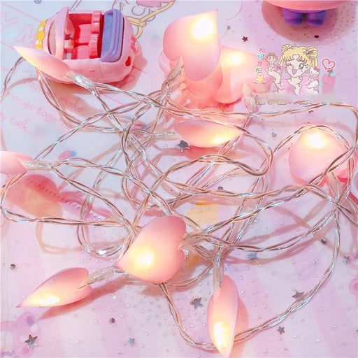 Kawaii  Japanese  Korean  LED love string lights soft sister photo props battery string lights