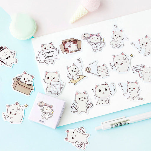 cute meow sauce boxed stickers stickers stickers hand account album items decorative seal stickers diy