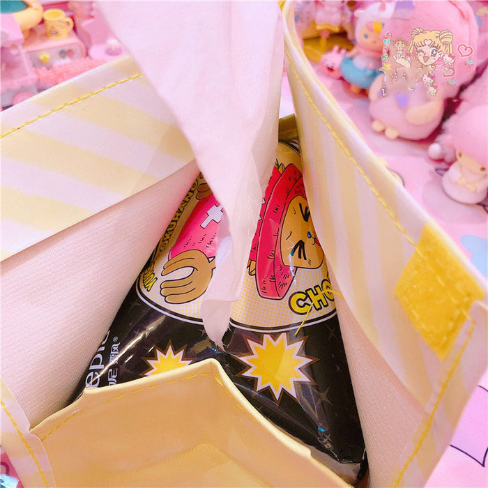 Kawaii  Japanese  Korean  Cartoon beautiful girl Melody PU tissue storage box