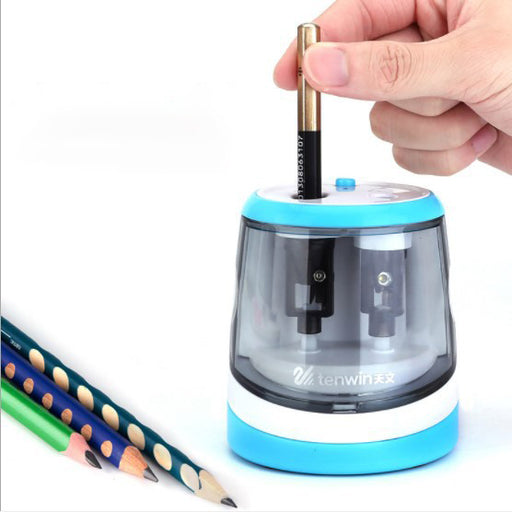 Kawaii  Japanese  Korean -Double-hole electric roll multi-function pen  sharpening, stop writing and painting color pencil sharpener