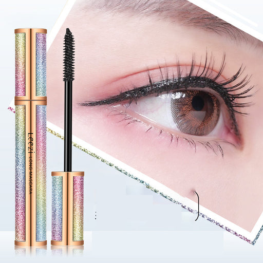 Kawaii  Japanese  Korean Leezi flying long starry sky mascara ins super fire curling thick waterproof non-smudge beauty makeup