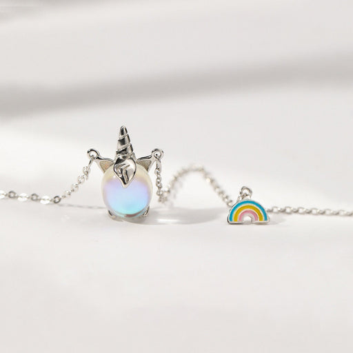 Kawaii  Japanese  Korean Rainbow Unicorn Necklace